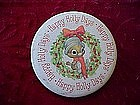 Hallmark Happy Holly Days pin back button