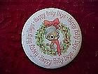 Hallmark Happy Holly Days pin back button
