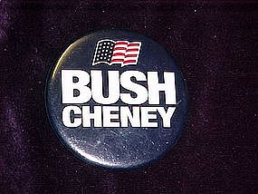 Bush Cheney, pin back button