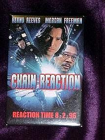 Chain Reaction, movie pin back button