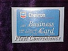 Chevron credit card advertising, pin back button