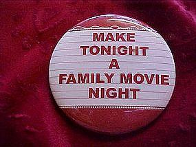 Movie night pin back button