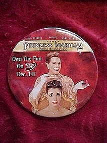 The Princess Diaries 2, promotional pin back button