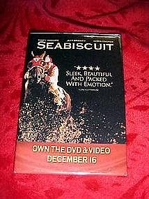 Seabiscuit, promotional pin back button