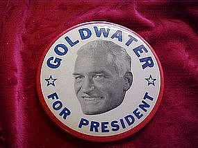 Goldwater for President, pin back campaign button