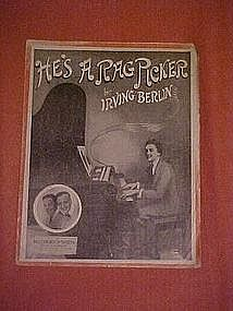 He's a rag picker, sheet music, Irving Berlin 1914