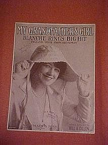 My Grandfathers Girl, sheet music 1916