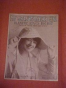 My Grandfathers Girl, sheet music 1916