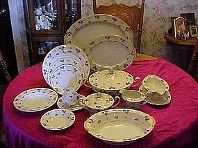 65 pc set of Noritake Avalon (violets) china
