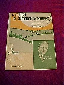 Is it just a summer romance? sheet music 1935