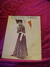 College Song No.3, sheet music book 1907