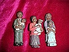 Black American family figurines