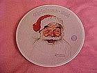 Norman Rockwell, Santa Claus, Christmas 1988 plate