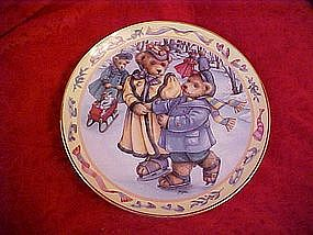 Teddy Bear Skating, Linda Hill Griffith, Franklin Mint