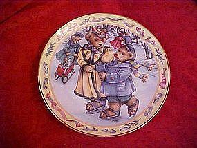 Teddy Bear Skating, Linda Hill Griffith, Franklin Mint