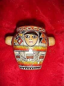 Hand painted Indian pot