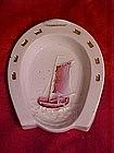 Horseshoe dish with sailing ship, Germany