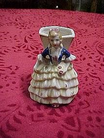 Occupied Japan colonial lady, mini vase