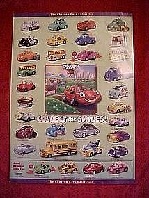 "Chevron cars ""Collect the smiles"" collector poster,"