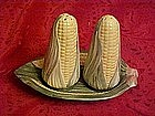 Three piece Corn salt & Pepper  shaker set