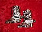 Metal Souvenir boots from Texas