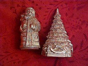 Santa and Christmas tree salt & pepper shakers