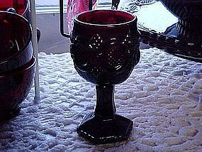 Avon ruby red Cape Cod small wine glass