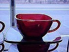 Anchor Hocking royal ruby Charm cup & saucer