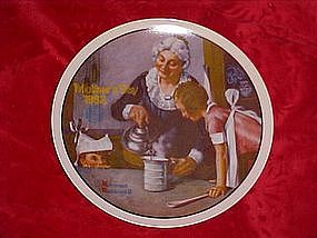 The Cooking Lesson, Norman Rockwell, Mothers Day 1982