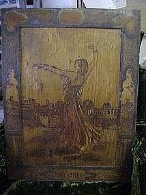 Vintage Golde Pyrography picture of Solome