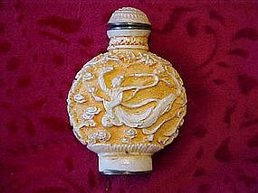 Oriental carved snuff jar