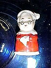 Mrs Santa, vintage porcelain bell ornament