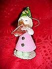 Vintage Santa / elf paper mache and chennile ornament