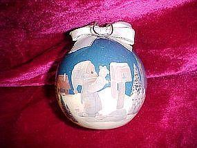 Enesco Precious moments decopage ornament, 1991