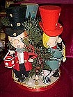 Vintage Christmas Carolers centerpiece