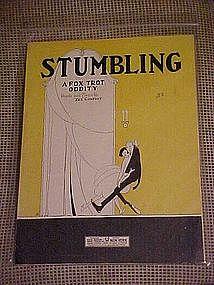 Sheet music, Stumbling, Deco art cover by SK ,1941