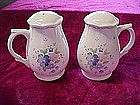 Large floral  salt & pepper shakers