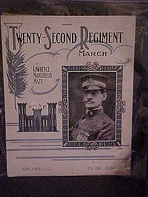 Twenty-Second Regiment March ,N.G. N.Y. dedication 1913