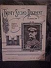 Twenty-Second Regiment March ,N.G. N.Y. dedication 1913