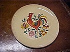 Rooster plate, Pennsylvania Dutch style