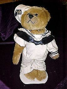Casey, 1940's 20th Century brass button bear