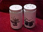 Fruit decorated salt and pepper shakers