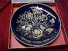 Spring time 1974 cobalt collector plate by Lindner