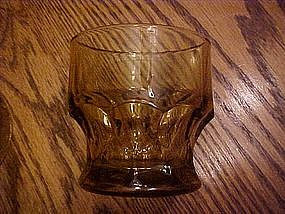 "Georgian 3"" juice glass, amber / gold"