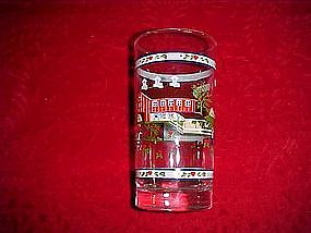 Tiara, farm land scene tea glasses, in original box