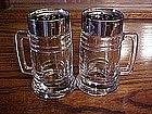 "Large glass ""Stien"" shape shakers"