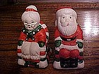Mr.and Mrs Santa salt & pepper shakers
