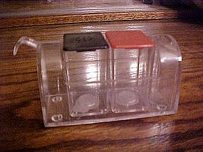 Acrylic mailbox salt & pepper shaker set