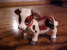 Norcrest cow figurine with bell