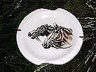 Large Norleans ashtray with horse heads